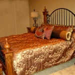 Quilted Bedding with Bolsters