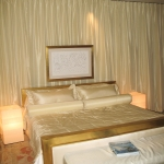 Ivory Silk Bedding and Silk Drapes