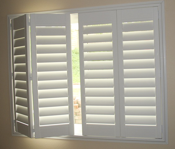 Accordion style blinds hard treatments gallery anna ione interiors are storm shutters unsafe for Bifold interior window shutters