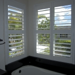 Wood Shutters with Divider