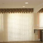 Graber Fabric Verticals under Sawtooth Valance