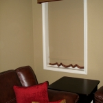 Black Out Roller Shade under Straight Cornice