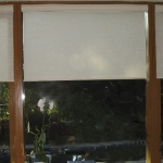 Roller Shades in Translucent Linen Look Fabric