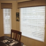Hunter Douglas Silhouette Shades on a Bay Window