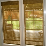 Natural Wovern Shades on French Door