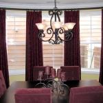 Curtain Panels on Bowed Iron Rod