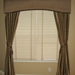 Arch Cornice over Curtain panels