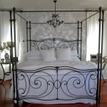 Linen White Drapery Panels on Iron Rod