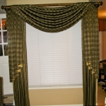 Black & Gold Faux Silk Swags & drapes
