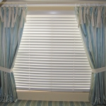 Cotton drapes with ties