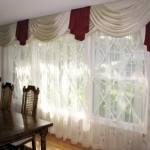 Ivory Swags in Moree fabric over Voile Sheer