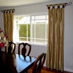 Gold & Scarlet Silk Curtain Panels