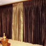 Two-tone Silk Drapes
