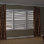 Decorative Curtains on Custom Painted Iron