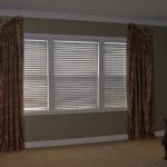 Decorative Curtains on Custom Painted Iron
