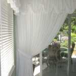 Sheer Drape under Scalloped Valance