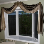 Faux Silk swags on Iron Hardware