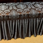 Skirted Bedroom Bench Trend Fabric
