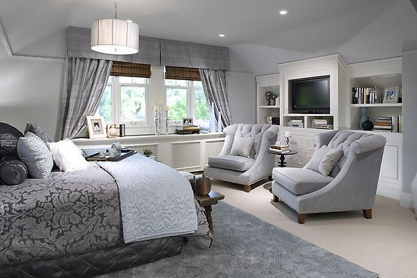 Awesome I Like The Window Treatment In This Room, The Silk Drapes Go Well With The  Valance And Roman Shades.