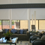 Straight Cornice over Blackout Roller Shades