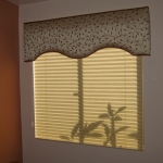 Graber Pleated Shade Under Shaped Cornice