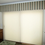 Light Filtering Roller Shades under Valance