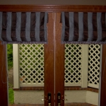 Hobble Roman Shades on French Doors