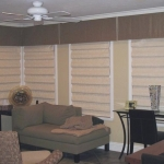 Soft Fold Roman Shades Under  Box Pleated Valance