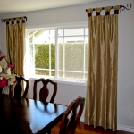 Gold & Scarlet Silk Curtain Panels