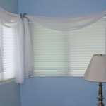 Throw Swags over Hunter Douglas Shades