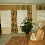 Tropical Fabric Valance with 3 Decorative Curtains
