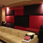 Upholstered wall in Faux Suede