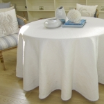 Round Table Cloth with Stroheim Matlisse Fabric