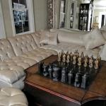 Re-upholstered Velvet Sofa